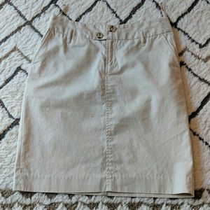 Banana Republic cream pencil skirt